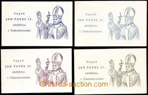 68361 - 1990 4 pcs of stamp-booklet Visit pope John Paul II., any ot