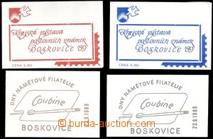 68365 - 1989 4 pcs of stamp-booklet Boskovice - Days thematic philat