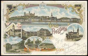 68378 - 1899 Bratislava, color lithography Grüss aus Pressburg, mul
