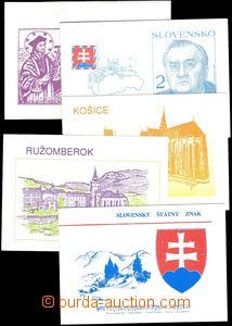 68383 - 1993 sestava 5ks známkových sešitků, ZS č.1/93 - 5/93, vydán