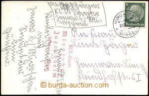 68407 - 1941 JANOV, pohlednice zaslaná z domova mládeže, který b