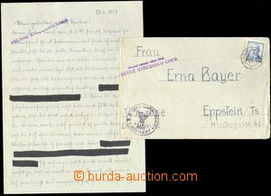 68437 - 1947 CHEB  letter to Germany US zone/-s, sent from Sběrnéh