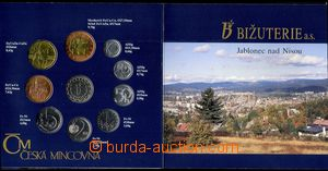 68473 - 1995 CZECH REPUBLIC  complete set of coins 10h - 50CZK, year