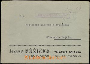 68479 - 1945 commercial letter without franking, postal agency pmk V