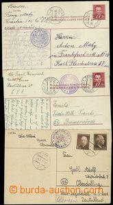 68497 - 1948-51 CENZURA  sestava 3ks dopisnic (2x CDV96+CDV93) zasla
