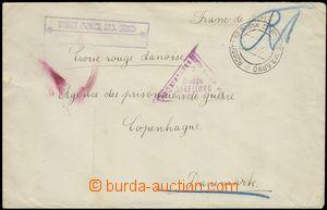 68500 - 1919 dopis adresovaný na Dánský červený kříž, kancel