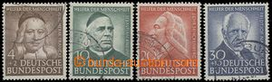 68501 - 1953 Mi.173-176 Personalities, complete set of, clear cancel