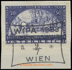 68505 - 1933 Mi.555A  WIPA 1933, ordinary paper, on small cut-square