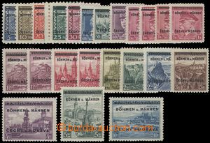 68534 - 1939 Pof.1-19, supplemented with about/by shades stamp. Pof.