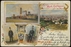 68553 - 1899 Moravská Ostrava  - 4-views collage, miner in uniform,