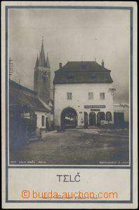 68558 - 1927 Telč - obchod J. Pospíchala; prošlá, odřené růž