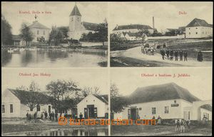 68559 - 1912 Krhov - 4-views, church, shop, pub; Us, good condition