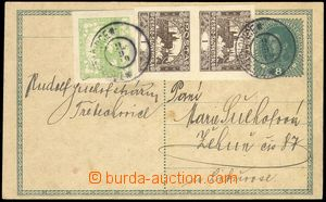 68567 - 1919 CPŘ3, PC Charles 8h with uprating for postal rate II,