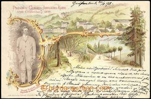68599 - 1898 Spa Jeseník (Gräfenberg) - lithography, Vincenz Prie�