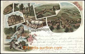 68600 - 1898 LIPOVÁ-LÁZNĚ (Bad Lindewiese) - lithography; long ad