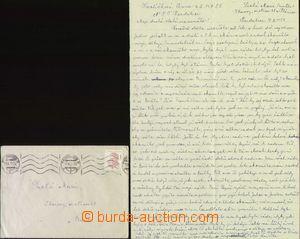 68609 - 1959 PARDUBICE  sestava 2ks dopisů včetně obsahu z žensk