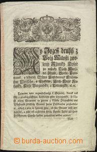 68615 - 1770 listina, Filipp hrabě Kollowrat, formát 20x32cm, psá
