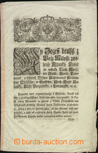 68615 - 1770 listina, Filipp hrabě Kollowrat, formát 20x32cm, psáno