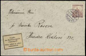 68636 - 1940 nedoručený dopis z Prahy do Hradce Králové, vyfr. z