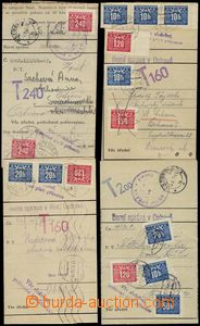68637 - 1946-55 comp. 10 pcs of entires with franked with. Postage d