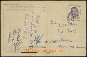 68638 - 1948 MÍROV  postcard to State prison on/for Mírově, line