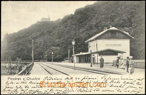 68671 - 1907 Chuchle (Kuchelbad) - people at railway-station; long a