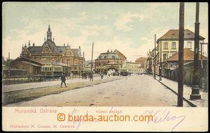 68674 - 1905 Moravská Ostrava - místní nádraží, tramvaj; DA, p