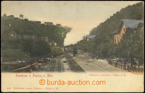 68675 - 1900 Police n./M. - train at railway-station, tunnel; long a