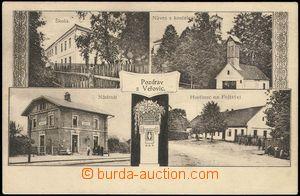 68677 - 1922 Veřovice - 4okénková, škola, hasičská zbrojnice,