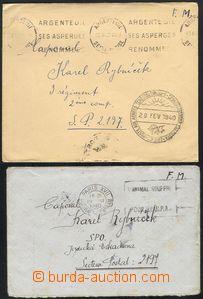 68689 - 1940 sestava 2ks dopisů na čs. vojáka v poli, 2x SR Argen
