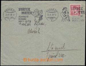 68714 - 1939 dopis s předběžnou československou frankaturou Pof.