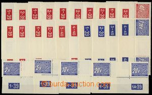 68715 - 1939 Pof.DL1-14M, almost complete set 2-stamps gutter with p