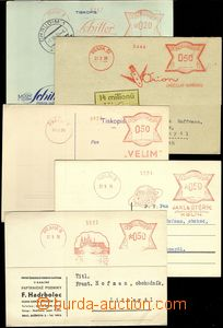68737 - 1934-39 comp. 6 pcs of cards with meter stmp, from that 1x f