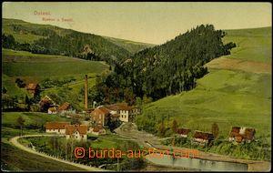 68756 - 1909 Bozkov - celkový pohled, továrna; prošlá, odřené
