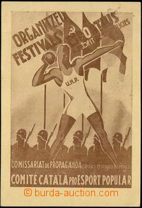 68759 - 1938 ATHLETICS, promotional Ppc, reproduction poster sportsm