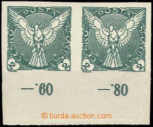 68785 - 1918 Pof.NV1, 2-páska, dvojitý tisk, spodní okraj s poč�