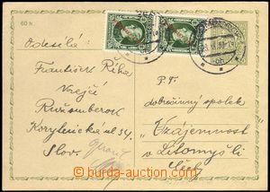 68799 - 1939 československá celina CDV65 použitá jako souběžn�