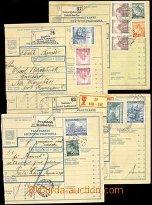 68849 - 1941 comp. 4 pcs of parcel cards without posting cuts with m