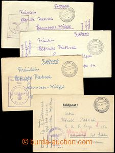 68862 - 1940-41 sestava 3ks dopisů a 1 lístku s pěknými otisky D