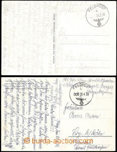 68863 - 1939 2 pcs of Ppc sent by FP from period of occupation Czech