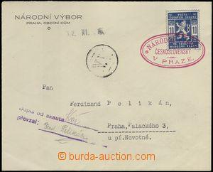 68884 - 1918 úřední obálka Národního výboru, vyfr. zn. Pof.SK