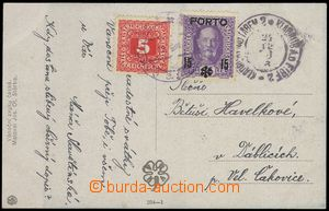 68887 - 1918 unpaid postcard with CDS Kladruby n./L. 2/ 24.12.18, bu