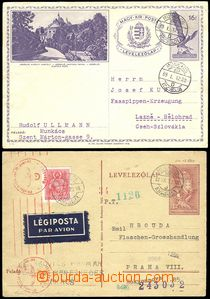 68903 - 1942 2 pcs of Hungarian PC sent to Bohemia-Moravia, 1x P111,