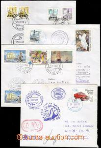 68923 - 1998-99 POLÁRNÍ VÝZKUM  sestava 4ks dopisů, vyfr. známk