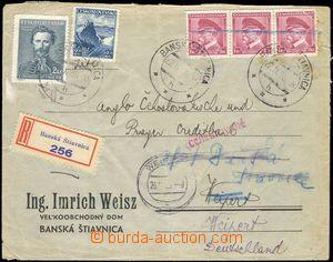 68956 - 1938 2x zasílaný firemní R dopis z Banské Štiavnice do Weipr