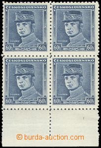 69008 - 1939 Alb.1 Štefánik, blue color, block of four with lower