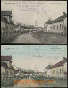 69032 - 1915 Püspökladány  - sestava 2ks pohlednic, 1x barevná, Koss