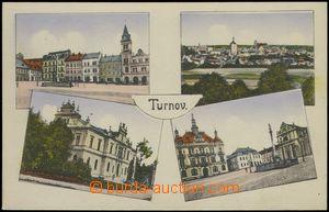 69033 - 1917 Turnov - 4okénková, náměstí; nepoužitá, lehká s