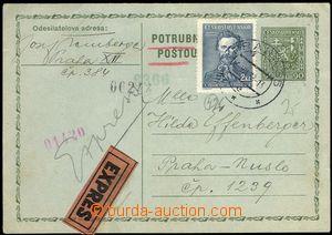 69065 - 1938 CPO2 II.typ, zaslaná jako Ex potrubní poštou, dofran