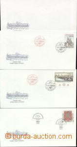 69069 - 1993 příležitostné obálky České pošty, sestava 4ks,